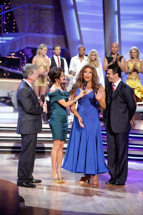 Wendy Williams reacts to being eliminated. Williams and her partner, Tony Dovolani, received 15 out of 30 from the judges for their Fox Trot on week three of &#39;Dancing With The Stars&#39; on Monday, April 4, 2011.  <span class=meta>(ABC Photo&#47; Adam Taylor)</span>