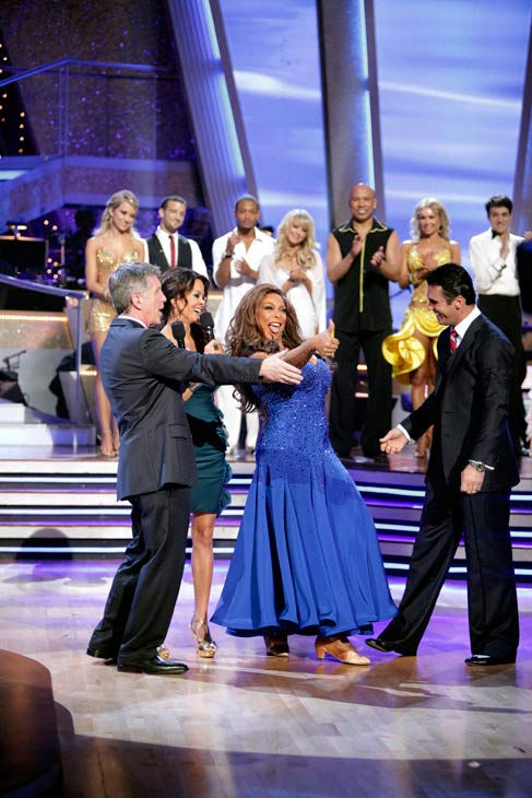 Wendy Williams reacts to being eliminated. Williams and her partner, Tony Dovolani, received 15 out of 30 from the judges for their Fox Trot on week three of 'Dancing With The Stars' on Monday, April 4, 2011.