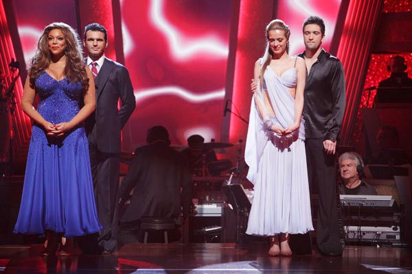 "<div class=""meta ""><span class=""caption-text "">Petra Nemcova, Dmitry Chaplin, Wendy Williams and Tony Dovolani await possible elimination. (ABC Photo/ Adam Taylor)</span></div>"