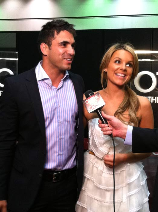 "<div class=""meta ""><span class=""caption-text "">Ali and Roberto from the 'Bachelorette' stop by to chat with 'On The Red Carpet' at the Reality Rocks Expo at the Los Angeles Convention Center on April 9, 2011. (OTRC)</span></div>"