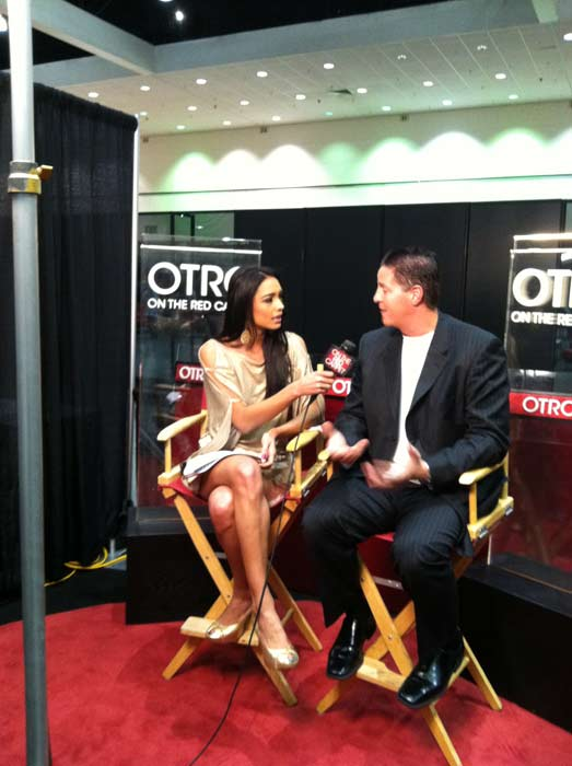 James Malinchak of 'Secret Millionaire' talks to 'On The Red Carpet' host Rachel Smith at the Reality Rocks Expo at the Los Angeles Convention Center on April 9, 2011.