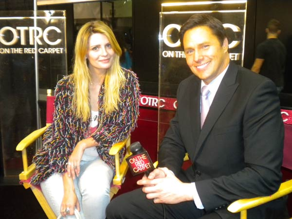 'On The Red Carpet' host Chris Balish interviews...