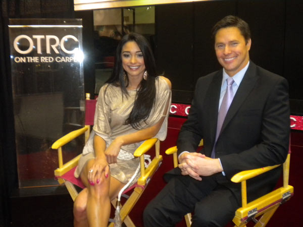 'On The Red Carpet' hosts Rachel Smith and Chris...