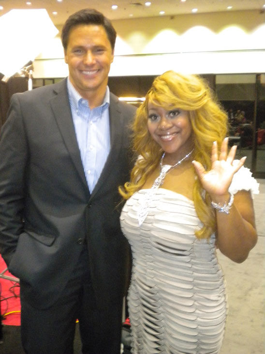 'Charm School' and 'Flavor Of Love' star Schatar 'Hottie' Sapphira talks to 'On The Red Carpet' host Chris Balish at the Reality Rocks Expo at the Los Angeles Convention Center on April 10, 2011.