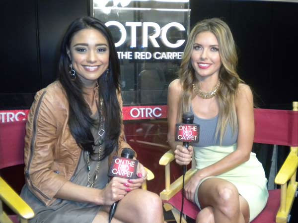 Audrina Patridge of 'The Hills' chats with 'On The Red Carpet' host Rachel Smith about her new reality show 'Audrina' on VH1 at the Reality Rocks Expo at the Los Angeles Convention Center on April 10, 2011.