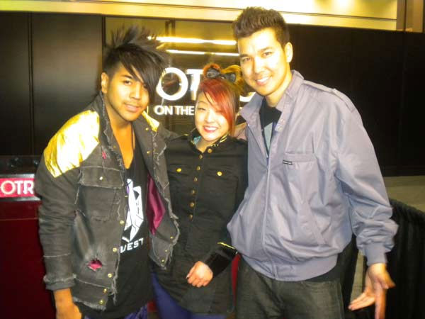 "<div class=""meta ""><span class=""caption-text "">Members of the Quest Crew, winners of 'America's Best Dance Crew' season 3, talk to 'On The Red Carpet' host Rachel Smith at the Reality Rocks Expo at the Los Angeles Convention Center on April 10, 2011.  (OTRC Photo)</span></div>"