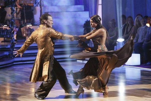 Chris Jericho and his partner Cheryl Burke received 23 out of 30 from the judges for their Paso Doble on week four of &#39;Dancing With The Stars.&#39; <span class=meta>(ABC&#47;Adam Taylor)</span>