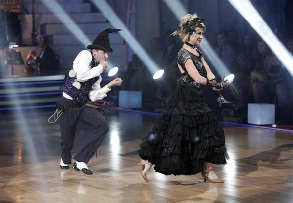 Chelsea Kane and her partner Mark Ballas received 26 out of 30 from the judges for their Viennese Waltz on week four of &#39;Dancing With The Stars.&#39; <span class=meta>(ABC&#47;Adam Taylor)</span>