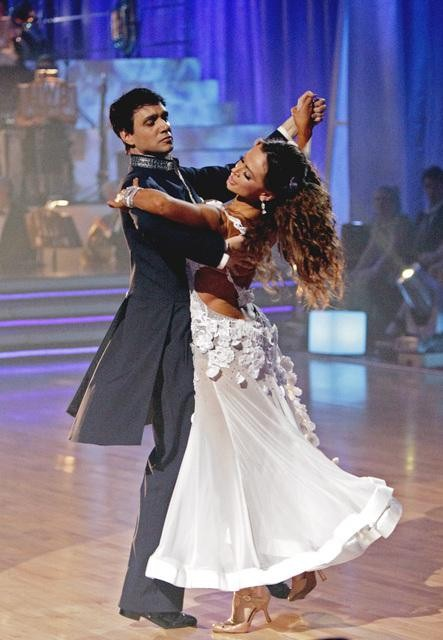 Ralph Macchio and his partner Karina Smirnoff received 25 out of 30 from the judges for their Waltz