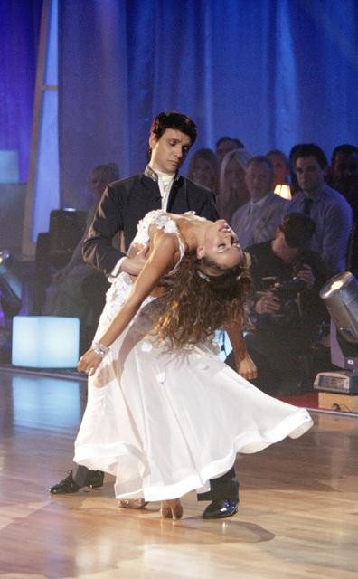 "<div class=""meta ""><span class=""caption-text "">Ralph Macchio and his partner Karina Smirnoff received 25 out of 30 from the judges for their Waltz on week four of 'Dancing With The Stars.' (ABC/Adam Taylor)</span></div>"