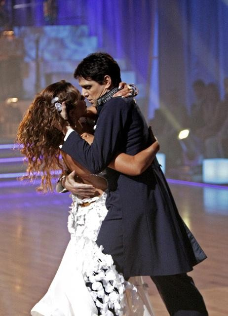 Ralph Macchio and his partner Karina Smirnoff received 25 out of 30 from the judges for their Waltz on week four of &#39;Dancing With The Stars.&#39; <span class=meta>(ABC&#47;Adam Taylor)</span>