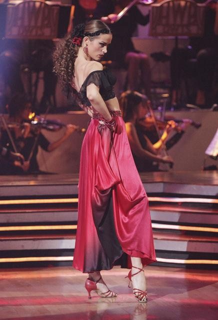 "<div class=""meta ""><span class=""caption-text "">Petra Nemcova and her partner Dmitry Chaplin received 23 out of 30 from the judges for their Paso Doble on week four of 'Dancing With The Stars.' (ABC/Adam Taylor)</span></div>"