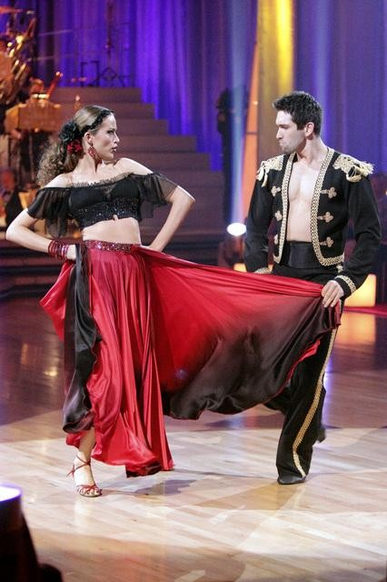 "<div class=""meta image-caption""><div class=""origin-logo origin-image ""><span></span></div><span class=""caption-text"">Petra Nemcova and her partner Dmitry Chaplin received 23 out of 30 from the judges for their Paso Doble on week four of 'Dancing With The Stars.' (ABC/Adam Taylor)</span></div>"