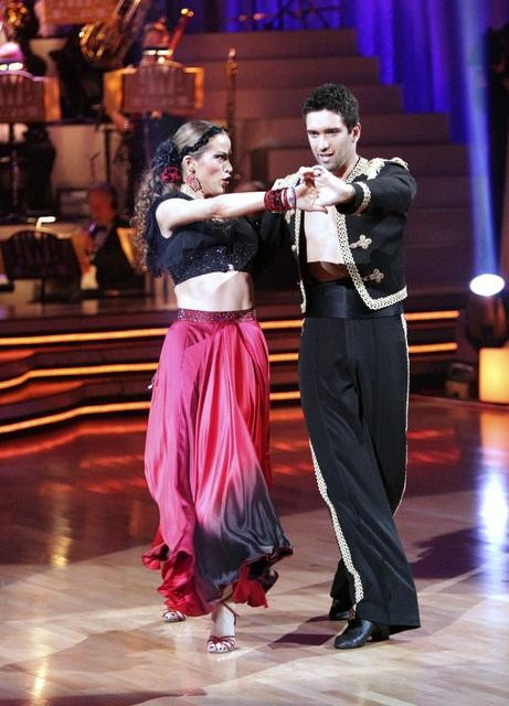 Petra Nemcova and her partner Dmitry Chaplin received 23 out of 30 from the judges for their Paso Doble on week four of &#39;Dancing With The Stars.&#39; <span class=meta>(ABC&#47;Adam Taylor)</span>