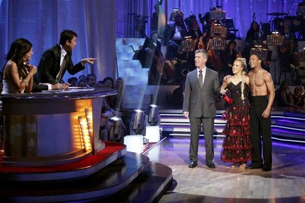 "<div class=""meta ""><span class=""caption-text "">Romeo and his partner Chelsie Hightower received 23 out of 30 from the judges for their Paso Doble on week four of 'Dancing With The Stars.' (ABC/Adam Taylor)</span></div>"