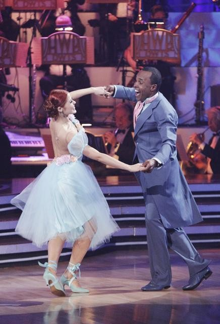 "<div class=""meta image-caption""><div class=""origin-logo origin-image ""><span></span></div><span class=""caption-text"">Sugar Ray Leonard and his partner Anna Trebunskaya received 21 out of 30 from the judges for their Viennese Waltz on week four of 'Dancing With The Stars.' (ABC/Adam Taylor)</span></div>"