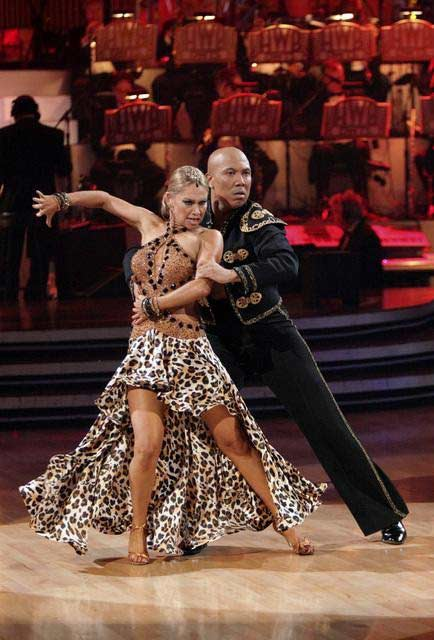 Hines Ward and his partner Kym Johnson received...