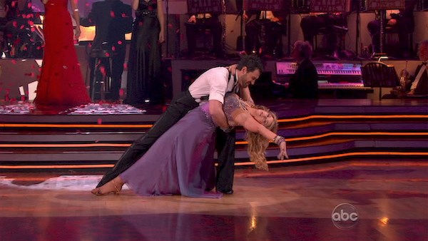 "<div class=""meta ""><span class=""caption-text "">Kirstie Alley and her partner Maksim Chmerkovskiy dance Waltz on week fourof 'Dancing With The Stars.' The couple received a 22 out of 30 from the judges. (OTRC Photo)</span></div>"