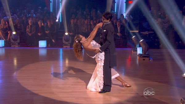 "<div class=""meta image-caption""><div class=""origin-logo origin-image ""><span></span></div><span class=""caption-text"">Ralph Macchio and his partner Karina Smirnoff received 25 out of 30 from the judges for their Waltz on week four of 'Dancing With The Stars.' (OTRC Photo)</span></div>"