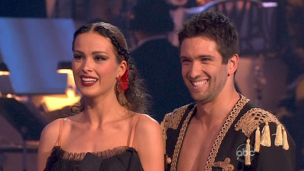 Petra Nemcova and her partner Dmitry Chaplin received 23 out of 30 from the judges for their Paso Doble on week four of &#39;Dancing With The Stars.&#39; <span class=meta>(OTRC Photo)</span>