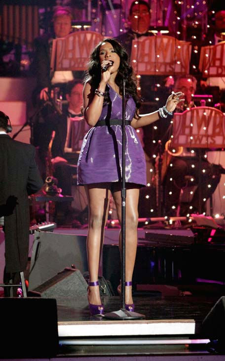 Jennifer Hudson performed 'Don't Look Down' and 'Feeling Good' on 'Dancing With The Stars: The Results Show,' Tuesday, April 12, 2011.