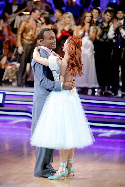 "<div class=""meta image-caption""><div class=""origin-logo origin-image ""><span></span></div><span class=""caption-text"">Sugar Ray Leonard and his partner Anna Trebunskaya react to being eliminated. The couple received 21 out of 30 from the judges for their Viennese Waltz on week four of 'Dancing With The Stars' on Monday, April 11, 2011.  (ABC Photo/ Adam Taylor)</span></div>"