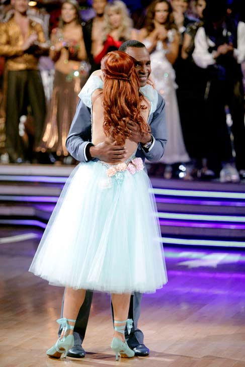 Sugar Ray Leonard and his partner Anna Trebunskaya react to being eliminated. The couple received 21 out of 30 from the judges for their Viennese Waltz on week four of 'Dancing With The Stars' on Monday, April 11, 2011.