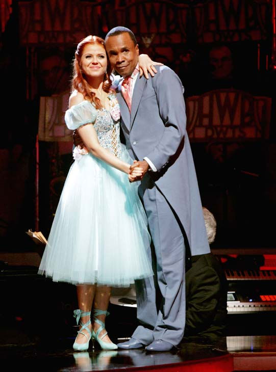 "<div class=""meta ""><span class=""caption-text "">Sugar Ray Leonard and his partner Anna Trebunskaya await possible elimination. The couple received 21 out of 30 from the judges for their Viennese Waltz on week four of 'Dancing With The Stars' on Monday, April 11, 2011.  (ABC Photo/ Adam Taylor)</span></div>"