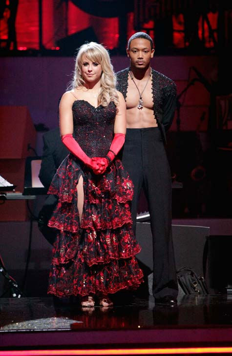 Romeo and his partner Chelsie Hightower await possible elimination. The couple received 23 out of 30 from the judges for their Paso Doble on week four of &#39;Dancing With The Stars&#39; on Monday, April 11, 2011.  <span class=meta>(ABC Photo&#47; Adam Taylor)</span>