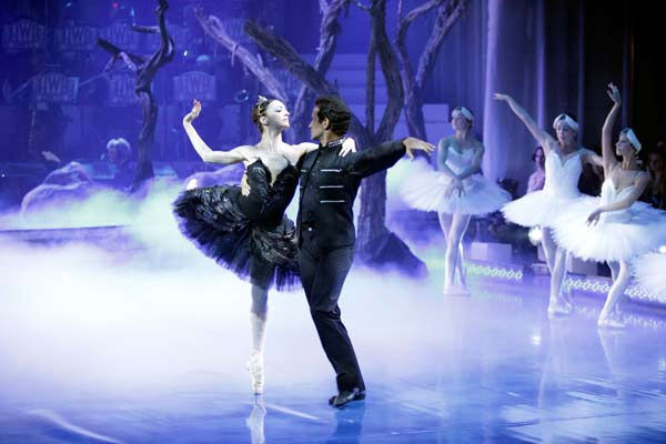 As part of Classical Week, the season&#39;s first &#39;Macy&#39;s Stars of Dance&#39; performance featured three of the most legendary ballet dancers in the world today, performing together on national television for the first time in a specially choreographed routine from &#39;Swan Lake,&#39; on &#39;Dancing with the Stars the Results Show,&#39; on Tuesday, April 12, 2011. &#40;Pictured: LORENA FEIJOO, JOSE MANUEL CARRENO&#41; <span class=meta>(ABC Photo&#47; Adam Taylor)</span>