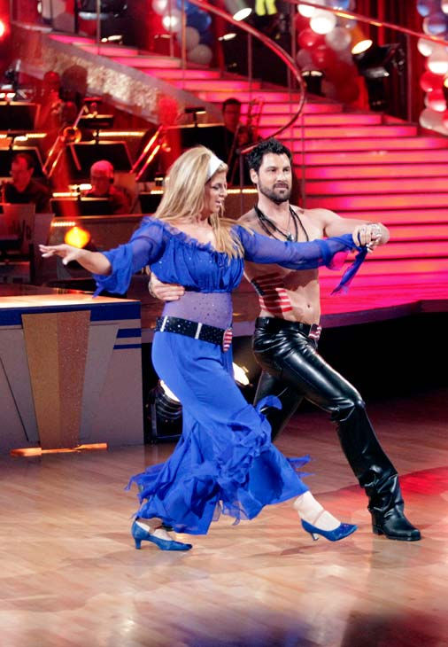 Kirstie Alley and her partner Maksim Chmerkovskiy dance Fox Trot on week five of &#39;Dancing With The Stars.&#39; The couple received a 23 out of 30 from the judges. <span class=meta>(ABC Photo&#47; Adam Taylor)</span>
