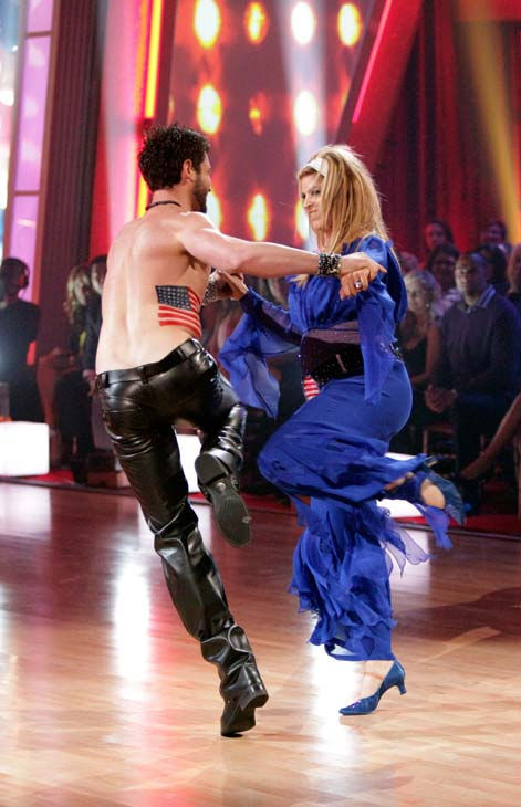 "<div class=""meta ""><span class=""caption-text "">Kirstie Alley and her partner Maksim Chmerkovskiy dance Fox Trot on week five of 'Dancing With The Stars.' The couple received a 23 out of 30 from the judges. (ABC Photo/ Adam Taylor)</span></div>"