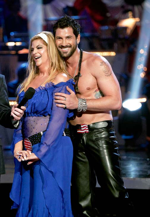 Kirstie Alley and her partner Maksim...