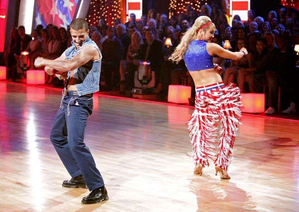Chelsea Kane and her partner Mark Ballas received 26 out of 30 from the judges for their Samba on week five of &#39;Dancing With The Stars.&#39; <span class=meta>(ABC Photo&#47; Adam Taylor)</span>
