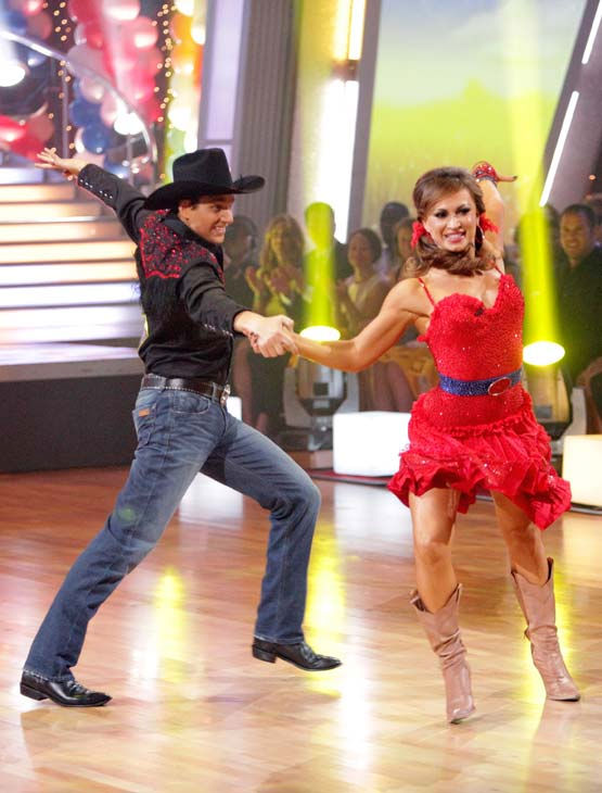"<div class=""meta image-caption""><div class=""origin-logo origin-image ""><span></span></div><span class=""caption-text"">Ralph Macchio and his partner Karina Smirnoff received 22 out of 30 from the judges for their Samba on week five of 'Dancing With The Stars.' (ABC Photo/ Adam Taylor)</span></div>"