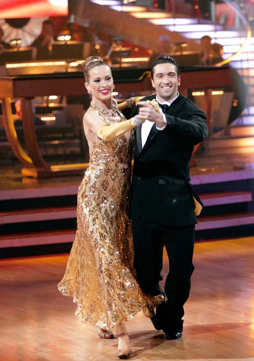 "<div class=""meta image-caption""><div class=""origin-logo origin-image ""><span></span></div><span class=""caption-text"">Petra Nemcova and her partner Dmitry Chaplin received 22 out of 30 from the judges for their Quickstep on week five of 'Dancing With The Stars.' (ABC Photo/ Adam Taylor)</span></div>"