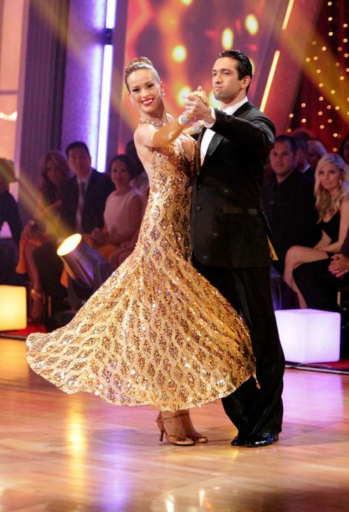 "<div class=""meta ""><span class=""caption-text "">Petra Nemcova and her partner Dmitry Chaplin received 22 out of 30 from the judges for their Quickstep on week five of 'Dancing With The Stars.' (ABC Photo/ Adam Taylor)</span></div>"