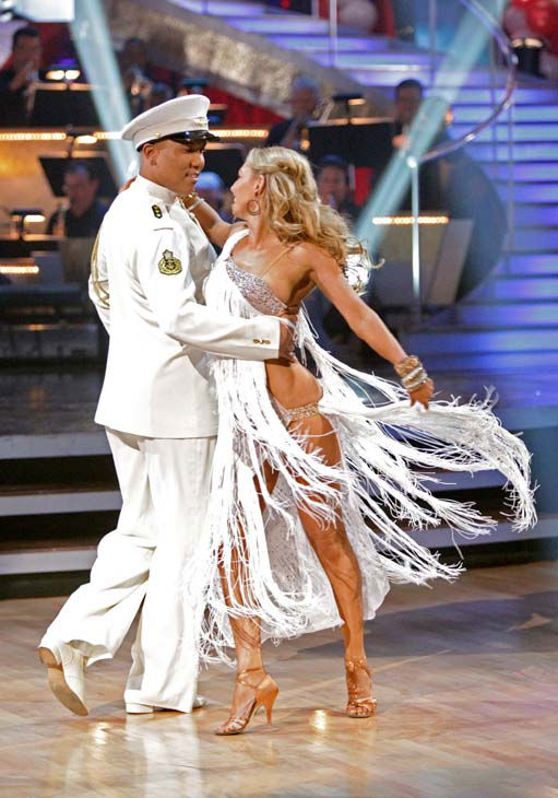 Hines Ward and his partner Kym Johnson received 27 out of 30 from the judges for their Rumba on week five of &#39;Dancing With The Stars.&#39; <span class=meta>(ABC Photo&#47; Adam Taylor)</span>