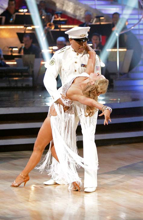 "<div class=""meta ""><span class=""caption-text "">Hines Ward and his partner Kym Johnson received 27 out of 30 from the judges for their Rumba on week five of 'Dancing With The Stars.' (ABC Photo/ Adam Taylor)</span></div>"
