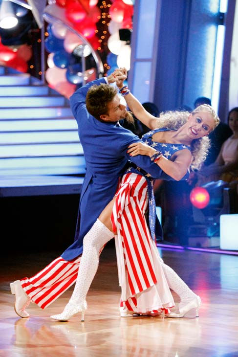 "<div class=""meta ""><span class=""caption-text "">Kendra Wilkinson and her partner Louis van Amstel received 22 out of 30 from the judges for their Fox Trot on week five of 'Dancing With The Stars.' (ABC Photo/ Adam Taylor)</span></div>"
