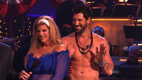 Kirstie Alley and her partner Maksim Chmerkovskiy dance Fox Trot on week five of &#39;Dancing With The Stars.&#39; The couple received a 23 out of 30 from the judges. <span class=meta>(OTRC Photo)</span>