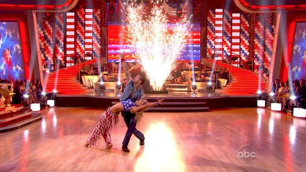 "<div class=""meta image-caption""><div class=""origin-logo origin-image ""><span></span></div><span class=""caption-text"">Chelsea Kane and her partner Mark Ballas received 26 out of 30 from the judges for their Samba on week five of 'Dancing With The Stars.' (OTRC Photo)</span></div>"