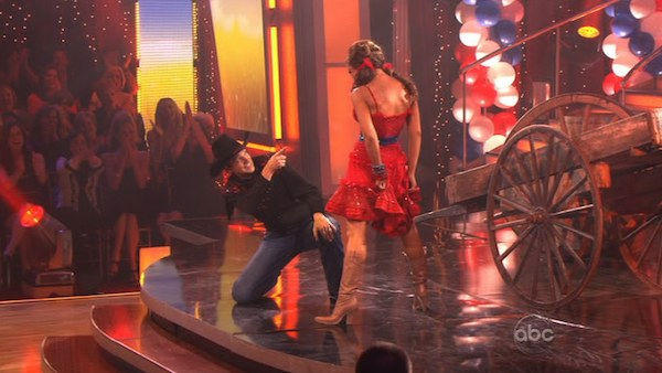 "<div class=""meta ""><span class=""caption-text "">Ralph Macchio and his partner Karina Smirnoff received 22 out of 30 from the judges for their Samba on week five of 'Dancing With The Stars.' (OTRC Photo)</span></div>"