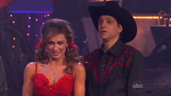 "<div class=""meta image-caption""><div class=""origin-logo origin-image ""><span></span></div><span class=""caption-text"">Ralph Macchio and his partner Karina Smirnoff received 22 out of 30 from the judges for their Samba on week five of 'Dancing With The Stars.' (OTRC Photo)</span></div>"