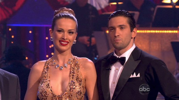 "<div class=""meta ""><span class=""caption-text "">Petra Nemcova and her partner Dmitry Chaplin received 22 out of 30 from the judges for their Quickstep on week five of 'Dancing With The Stars.' (OTRC Photo)</span></div>"