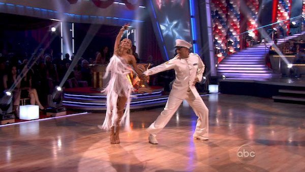 "<div class=""meta ""><span class=""caption-text "">Hines Ward and his partner Kym Johnson received 27 out of 30 from the judges for their Rumba on week five of 'Dancing With The Stars.' (OTRC Photo)</span></div>"