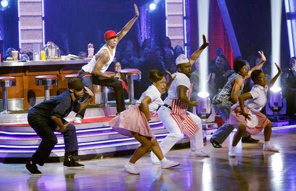 This week's 'Macy's Stars of Dance' also performed for America Week with a powerful number choreographed and starring Jamal Sims ('Footloose,' 'Rock of Ages').