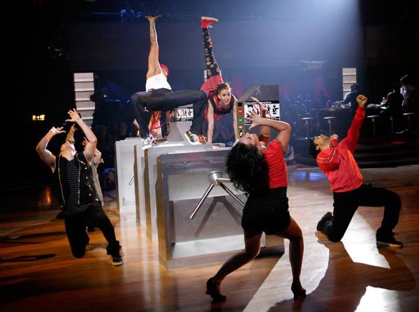 This week&#39;s &#39;Macy&#39;s Stars of Dance&#39; also performed for America Week with a powerful number choreographed and starring Jamal Sims &#40;&#39;Footloose,&#39; &#39;Rock of Ages&#39;&#41;. <span class=meta>(ABC Photo&#47; Adam Taylor)</span>