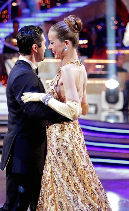 "<div class=""meta image-caption""><div class=""origin-logo origin-image ""><span></span></div><span class=""caption-text"">Petra Nemcova and her partner Dmitry Chaplin react to being eliminated. The pair received 22 out of 30 from the judges for their Quickstep on week five of 'Dancing With The Stars' on Monday, April 18, 2011.  (ABC Photo/ Adam Taylor)</span></div>"
