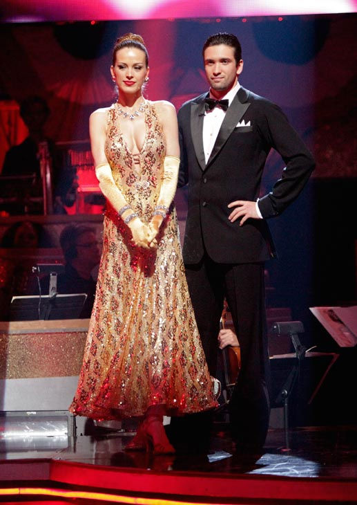 Petra Nemcova and her partner Dmitry Chaplin await possible elimination on &#39;Dancing With The Stars: The Result Show&#39; on Tuesday, April 19, 2011.  <span class=meta>(ABC Photo&#47; Adam Taylor)</span>